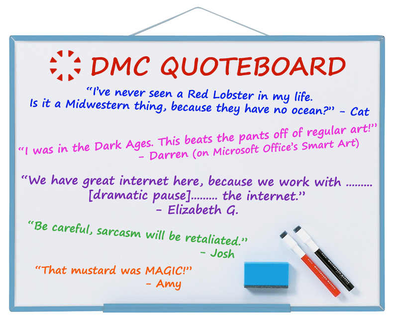 DMC's funniest quotes from October 2018