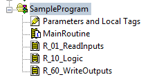 Image of creating a program with a subroutine for mapping inputs and outputs