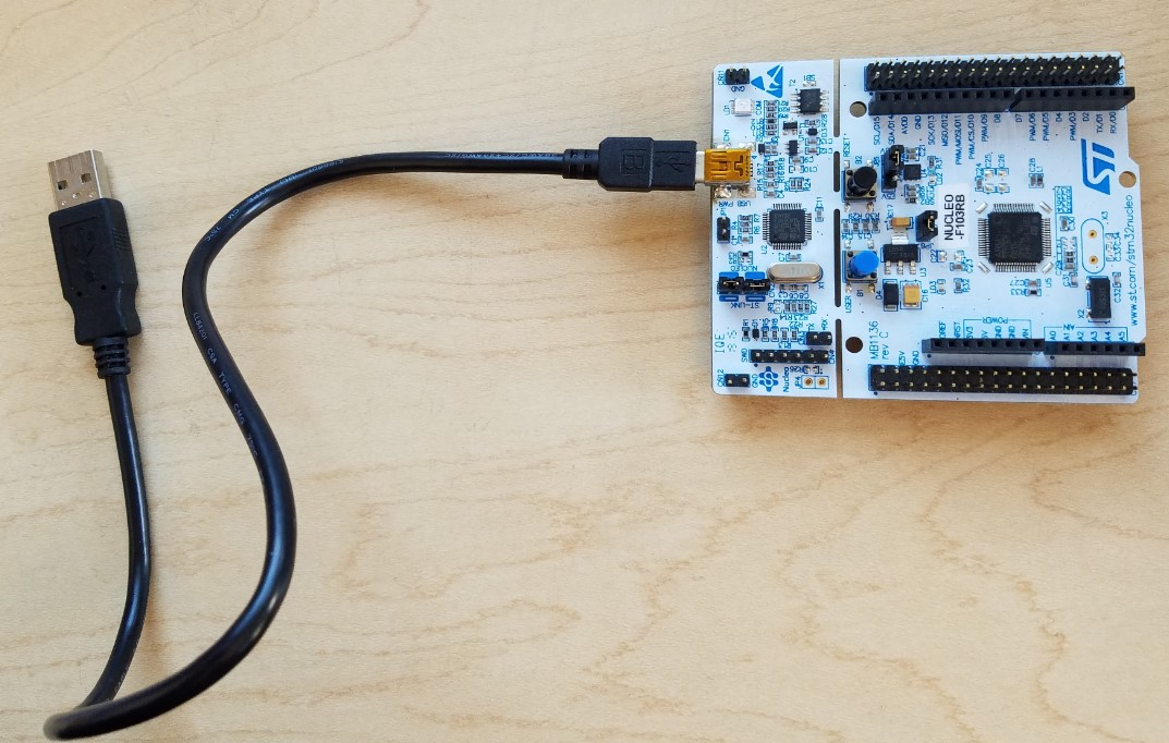 STM32 Nucleo Development Board and USB Mini B Cable