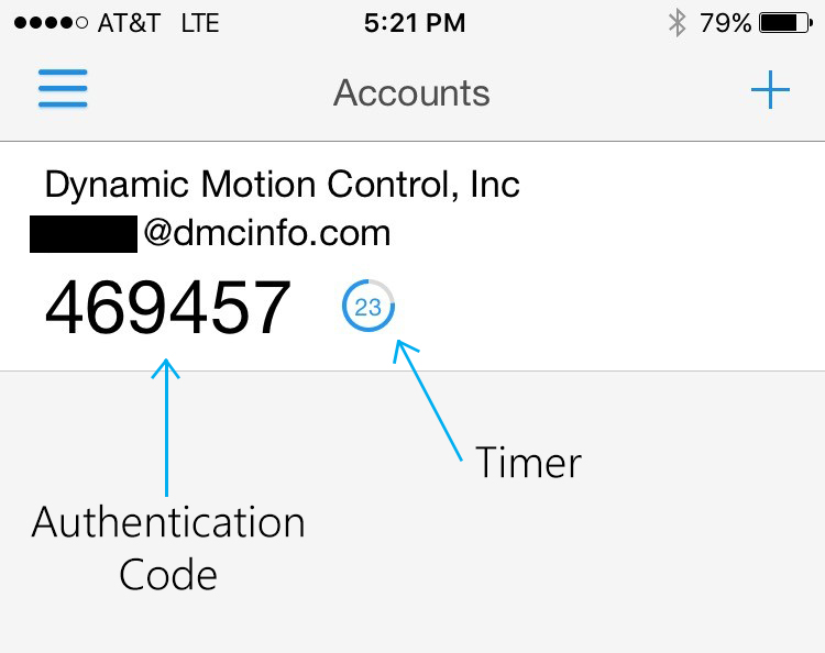 Screenshot of multi-factor authentication interface