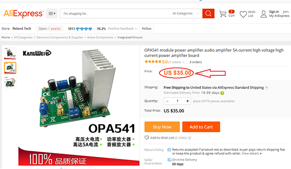 OPA541 Module on AliExpress