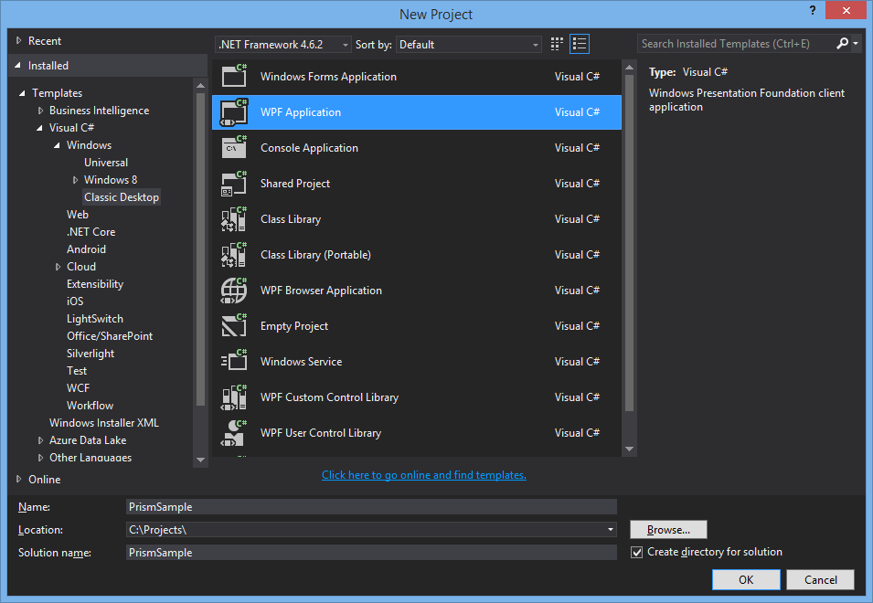 New Prism WPF Application Solution