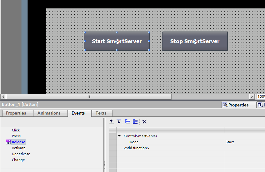 Start and Stop Sm@rtServer Example