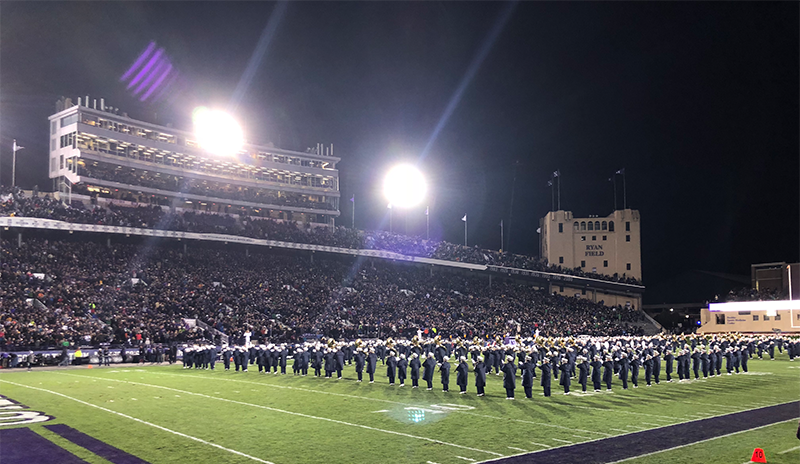Photo of band on the field.