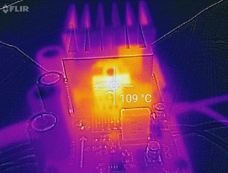Thermal Image of OPA541 temperature increase