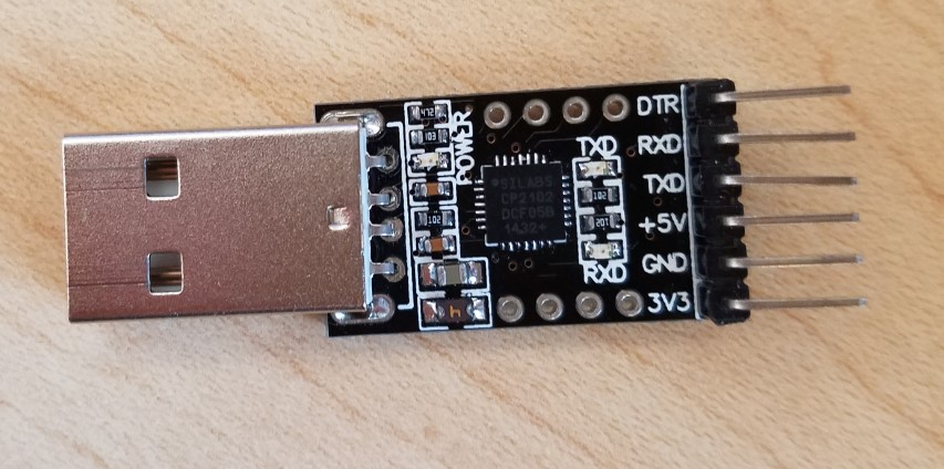 Photo of a USB to TTL UART converter