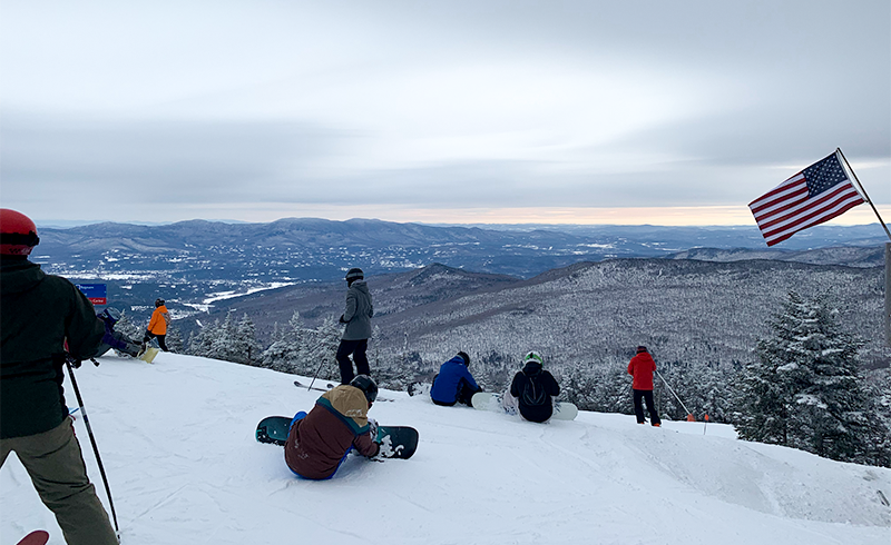 Photo of view while skiing in Stowe.