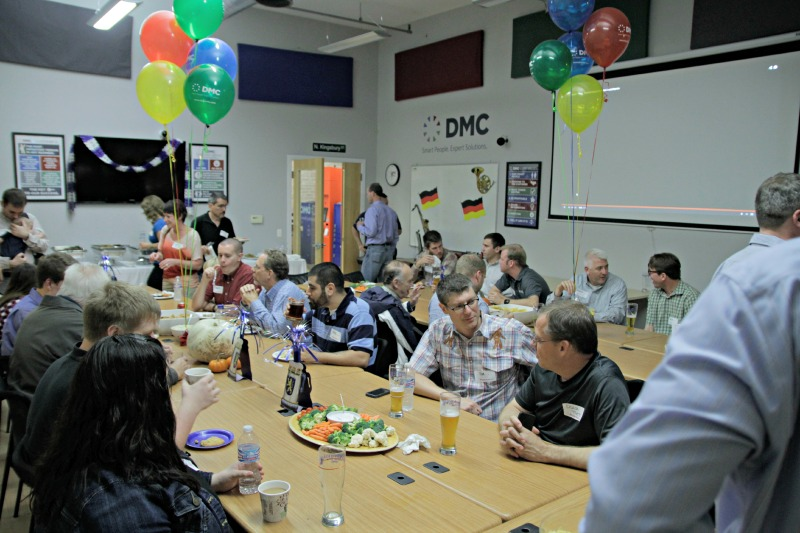 Guests at DMC enjoy the Oktoberfest fare for the evening.