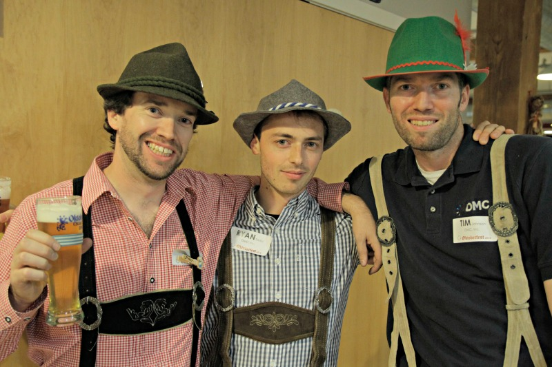DMC engineers pose in their lederhosen for Oktoberfest 2014.