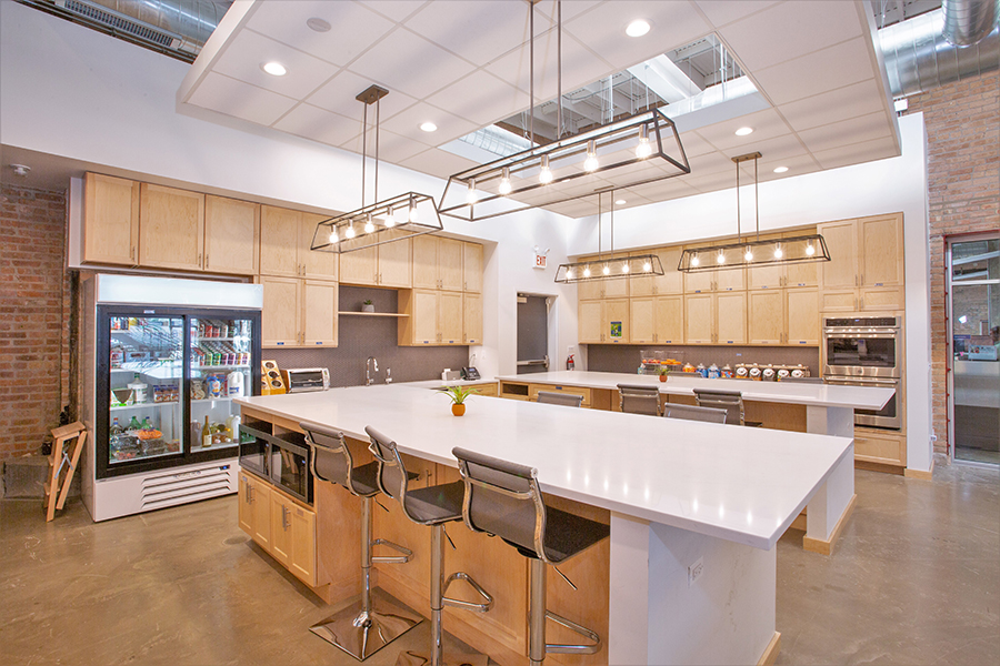 DMC Chicago's kitchen is bright and modern