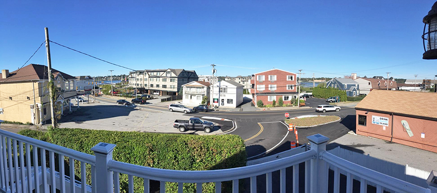 Panoramic view from the porch at our RI rental property