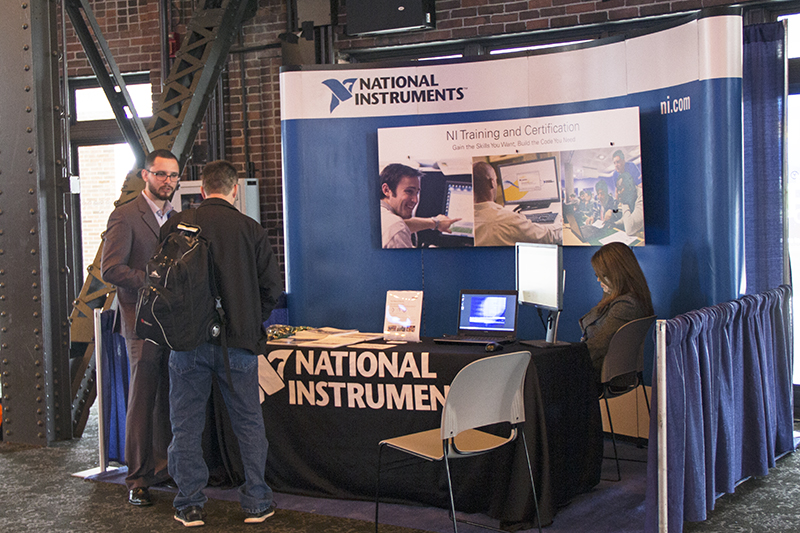 National Instruments' booth at NIDays Chicago 2015