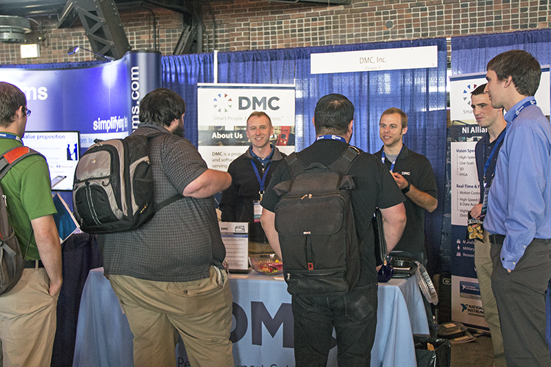 DMC chats with NIDays 2015 Chicago attendees at our booth