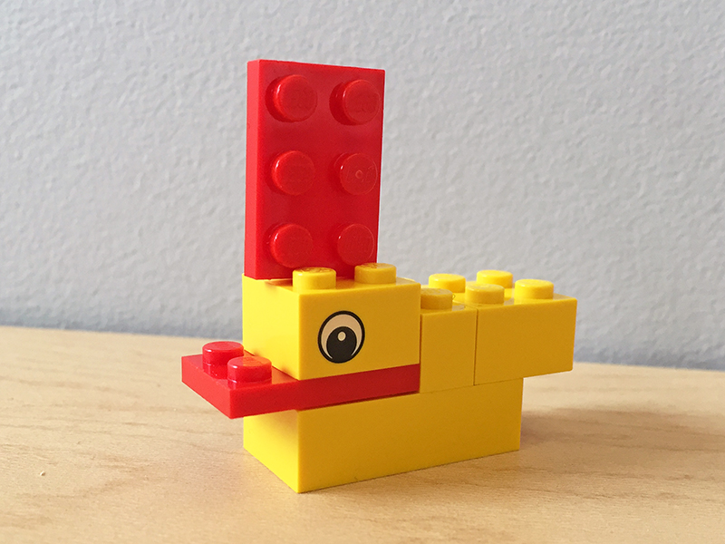 The LEGO duck we built at NIDays Chicago 2015 as a demonstration of stem execution