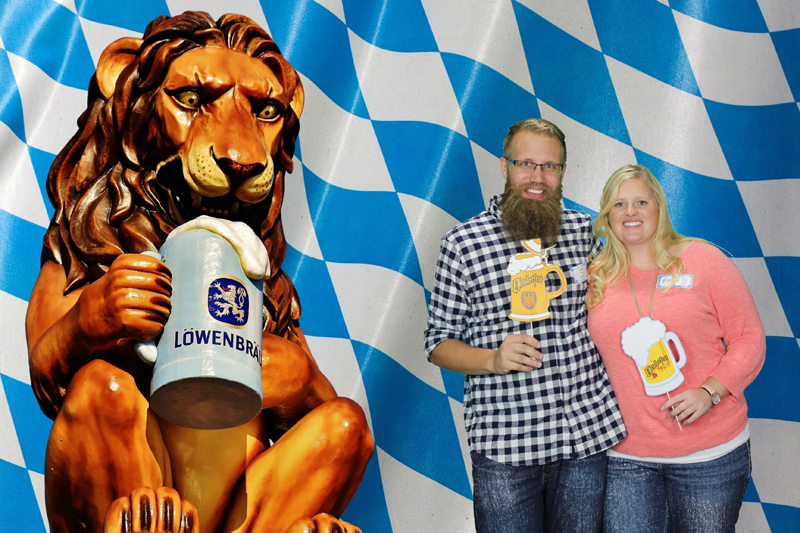Oktoberfest attendees enjoy DMC's photobooth