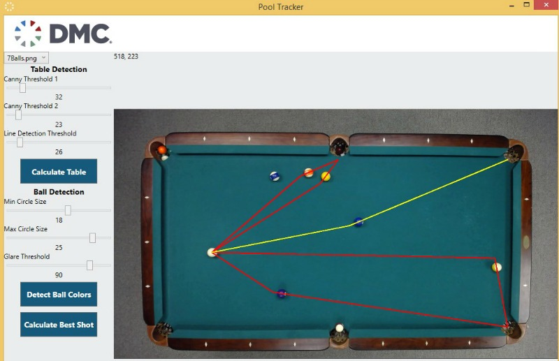 Pool Table Application