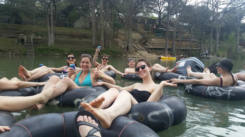 River rafting on the Guadalupe River