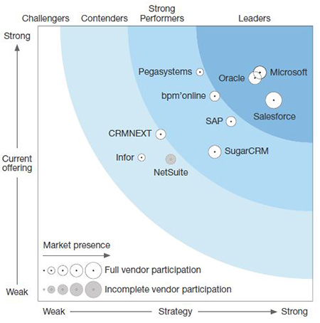 Microsoft is recognized as a leader in CRM systems