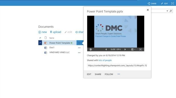 Preview your document before opening in SharePoint 2013.