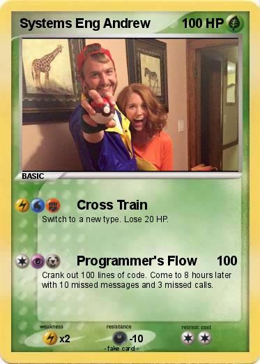 Systems Engineer Andrew Pokemon Card