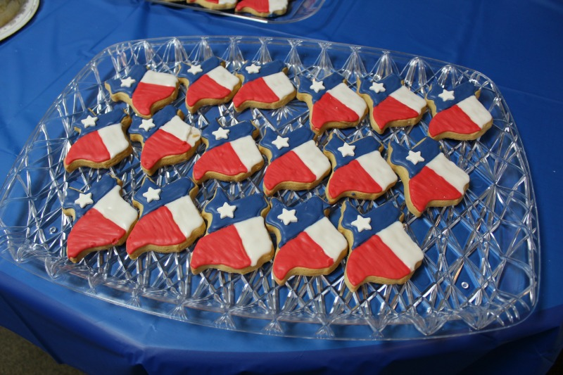 Texas shaped cookies