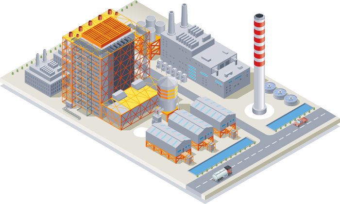 Illustration of a Factory