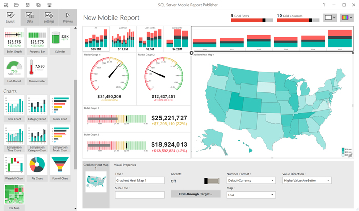 Microsoft SQL Server Reporting Services SSRS Dashboard