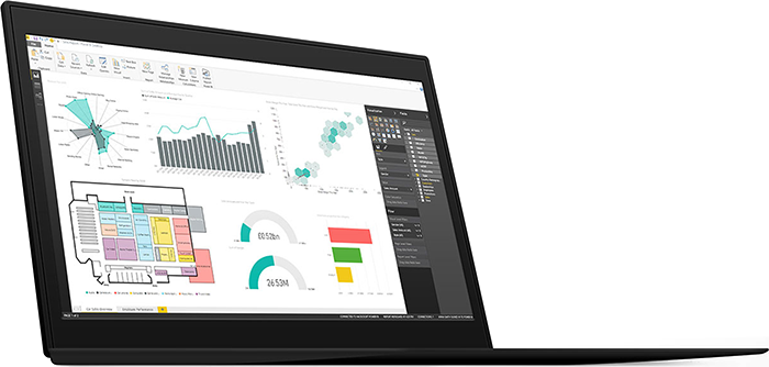 Microsoft Power BI Dashboard on PC/Laptop