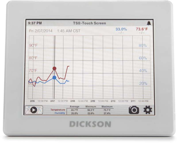 Embedded User Interface with Touch Screen LCD Designed by DMC for Dickson