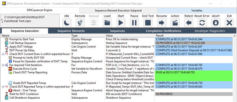 EXAMPLE OF SEQUENCE ENGINE INTERFACE OF DMCQUENCER FRAMEWORK