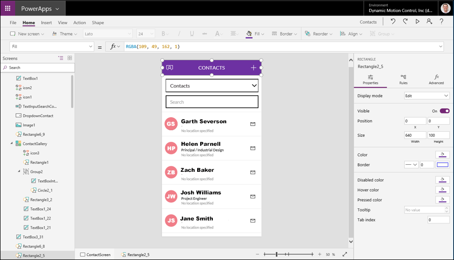PowerApps build by DMC