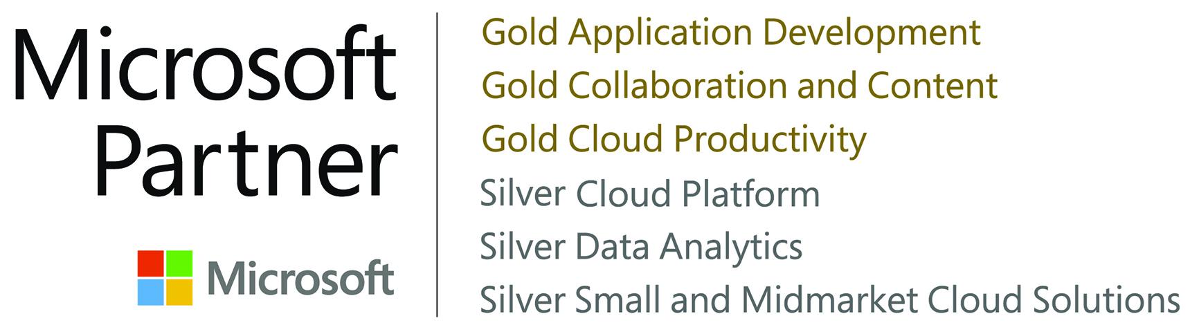 Microsoft gold partner dmc inc dmcs microsoft gold partner logo with competencies xflitez Images