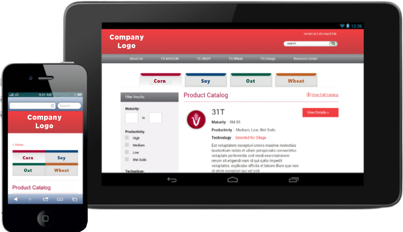 SharePoint Look and Feel Custom Interface with Responsive Design on Tablet and Mobile Device