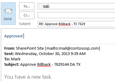 email approve task