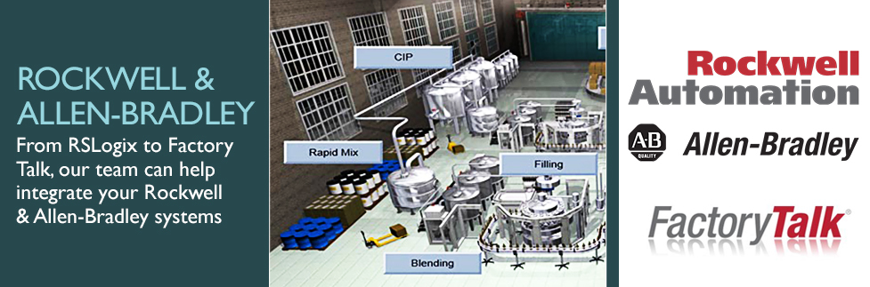 From RSLogix to Factory Talk, our team can help integrate your Rockwell & Allen-Bradley systems