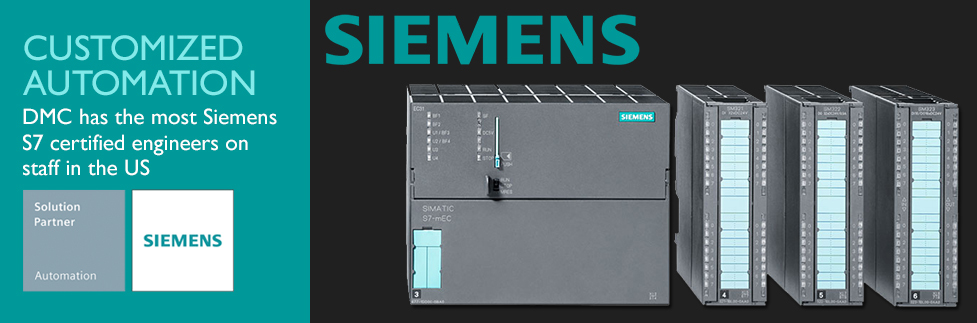 DMC has the most Siemens S7 certified engineers on staff. As a Siemens Solution Partner, DMC provides the greatest value add in customized automation.